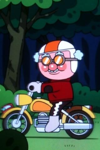 559578685 今日のアンパンマン、ジャムおじさんがバイク乗ってるwwwwwwwwww 画像