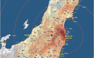 とあるところからいただいた東日本の汚染地図