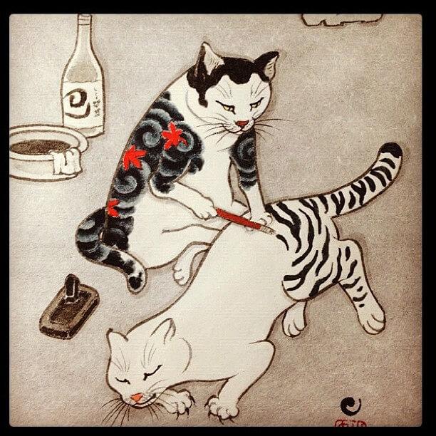 tumblr_m895ivj8Al1qg8mkho1_1280 猫彫師の絵が、なんか素敵。 画像