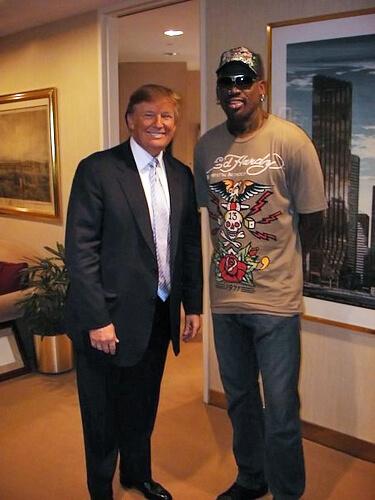 Trump_and_Rodman_2009 ドナルド・トランプを支持する海外セレブ・有名人・著名人ツイート・コメントまとめ Post