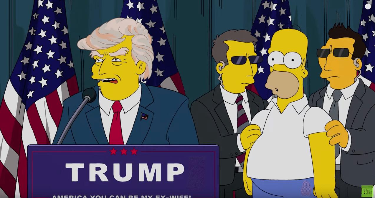 2000年に「シンプソンズ」が ドナルド・トランプ大統領を予言していた【米大統領選】